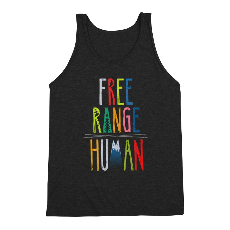 FREE RANGE HUMAN (super party edition) Men's Triblend Tank by iCKY the Great's Artist Shop