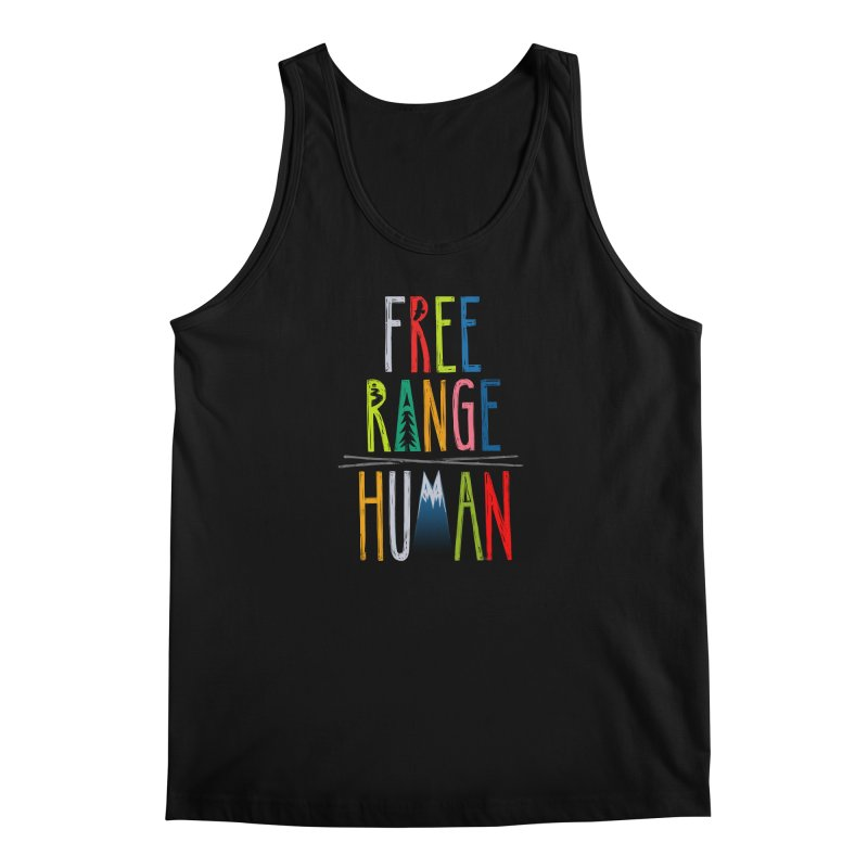FREE RANGE HUMAN (super party edition) Men's Regular Tank by iCKY the Great's Artist Shop