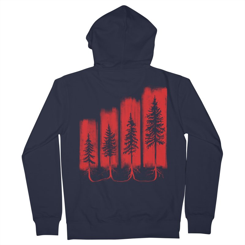 CONNECTED Men's French Terry Zip-Up Hoody by iCKY the Great's Artist Shop