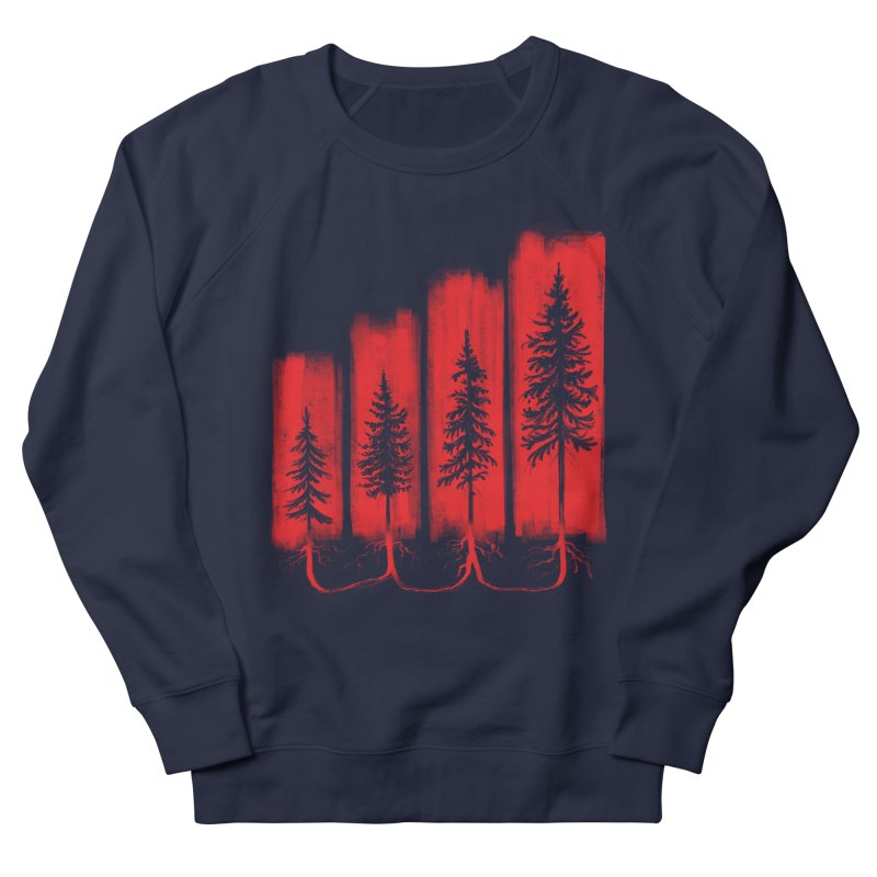 CONNECTED Women's French Terry Sweatshirt by iCKY the Great's Artist Shop