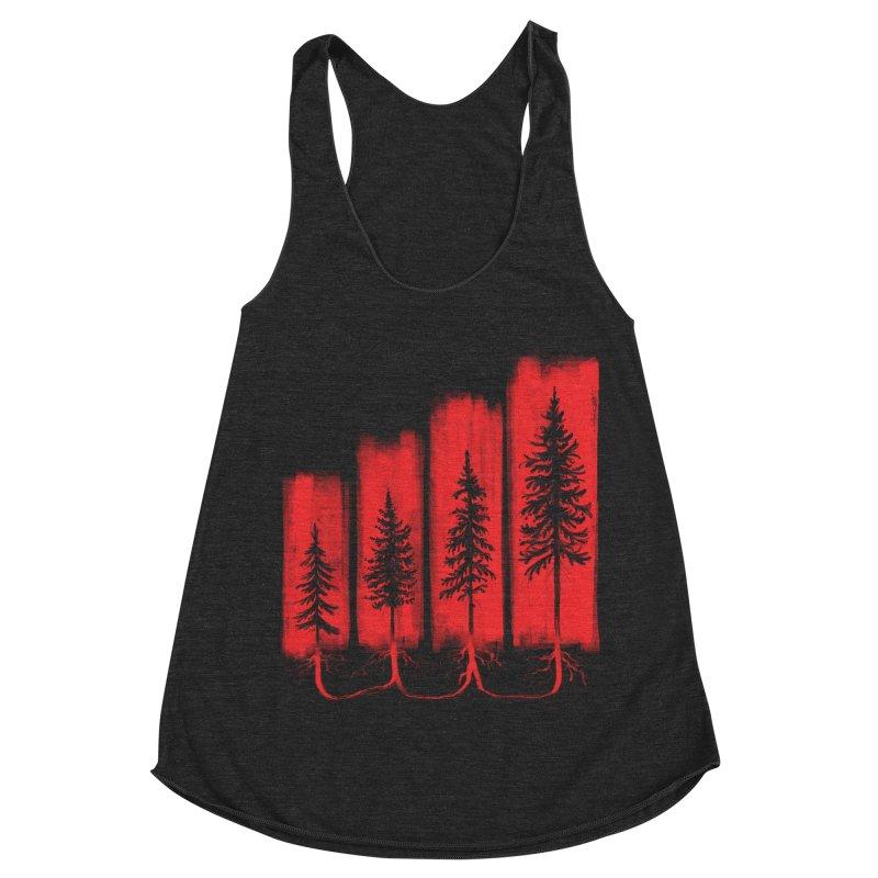 CONNECTED Women's Racerback Triblend Tank by iCKY the Great's Artist Shop