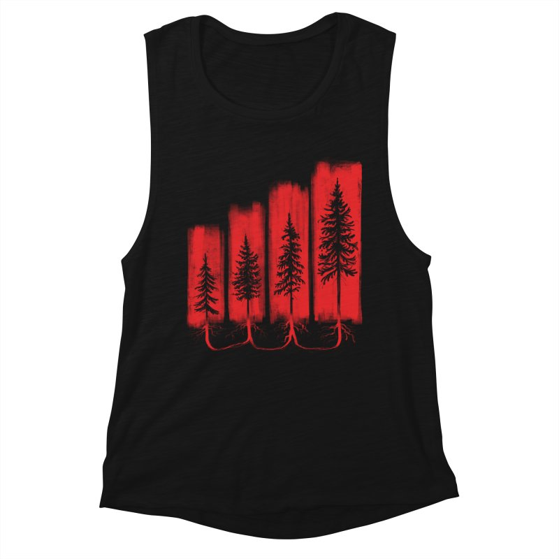 CONNECTED Women's Muscle Tank by iCKY the Great's Artist Shop