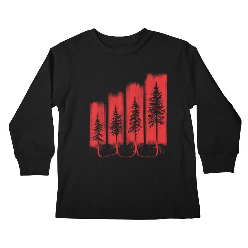 CONNECTED Kids Longsleeve T-Shirt by iCKY the Great's Artist Shop