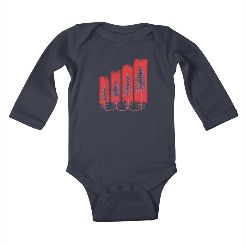 CONNECTED ('Merica Edition) Kids Baby Longsleeve Bodysuit by iCKY the Great's Artist Shop