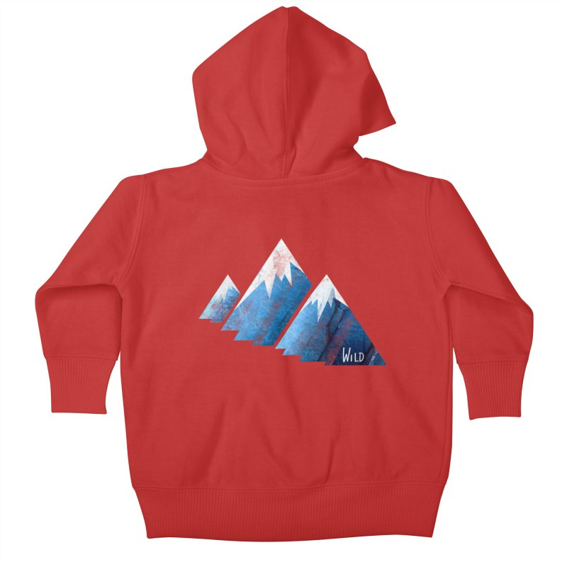 WILD MAJESTY Kids Baby Zip-Up Hoody by iCKY the Great's Artist Shop