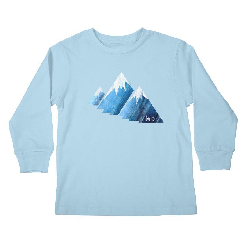 WILD MAJESTY Kids Longsleeve T-Shirt by iCKY the Great's Artist Shop