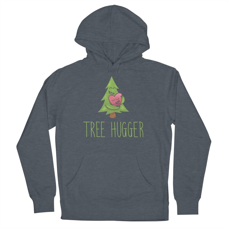 TREE HUGGER Men's French Terry Pullover Hoody by iCKY the Great's Artist Shop