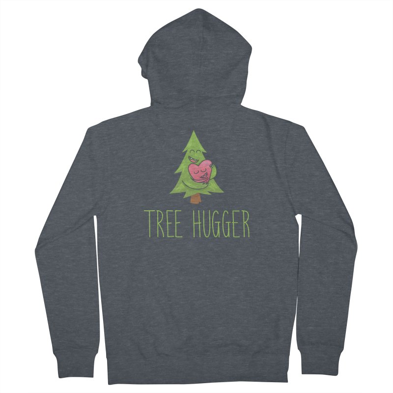 TREE HUGGER Women's French Terry Zip-Up Hoody by iCKY the Great's Artist Shop