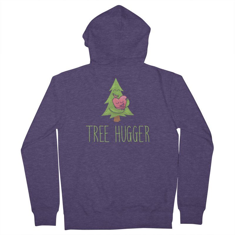 TREE HUGGER Men's French Terry Zip-Up Hoody by iCKY the Great's Artist Shop