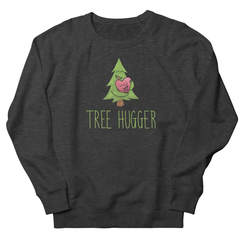 TREE HUGGER Men's French Terry Sweatshirt by iCKY the Great's Artist Shop