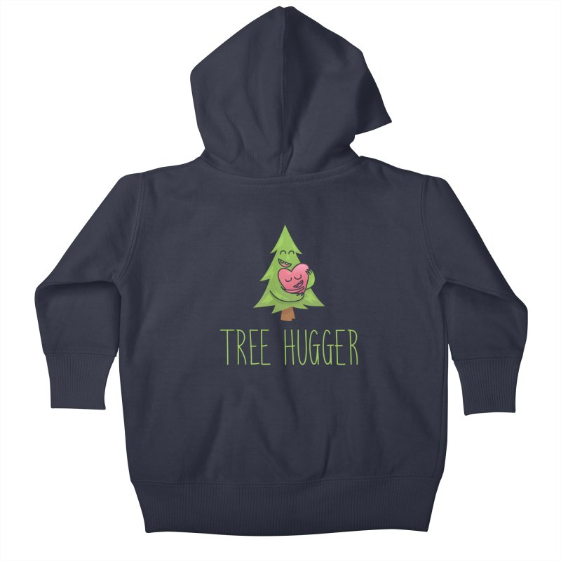 TREE HUGGER Kids Baby Zip-Up Hoody by iCKY the Great's Artist Shop