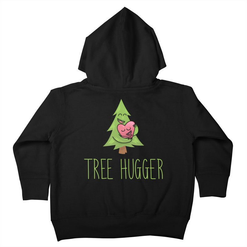 TREE HUGGER Kids Toddler Zip-Up Hoody by iCKY the Great's Artist Shop