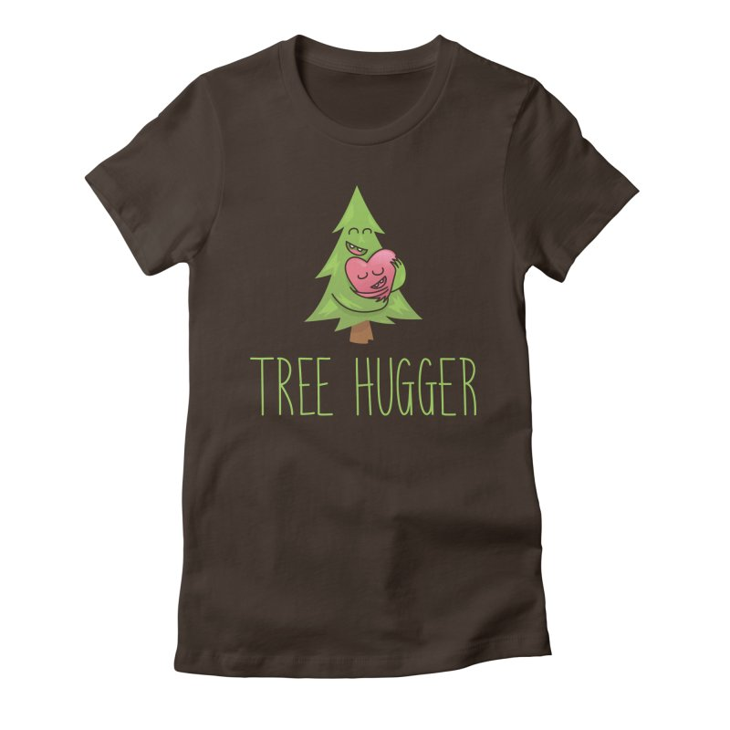 TREE HUGGER Women's Fitted T-Shirt by iCKY the Great's Artist Shop