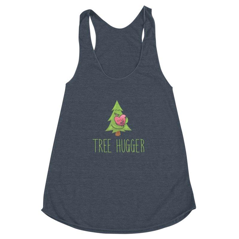 TREE HUGGER Women's Racerback Triblend Tank by iCKY the Great's Artist Shop