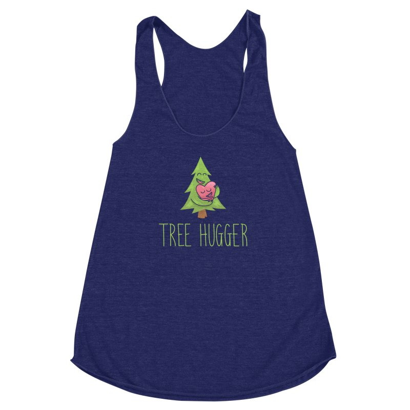 TREE HUGGER Women's Racerback Triblend Tank by iCKY the Great's Artist Shop