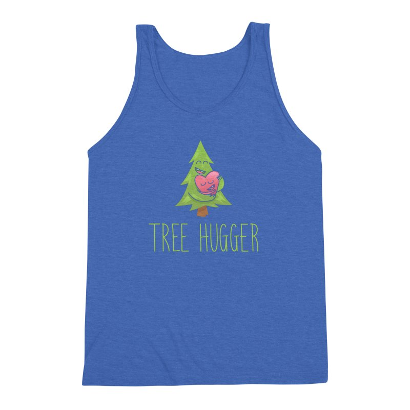 TREE HUGGER Men's Triblend Tank by iCKY the Great's Artist Shop