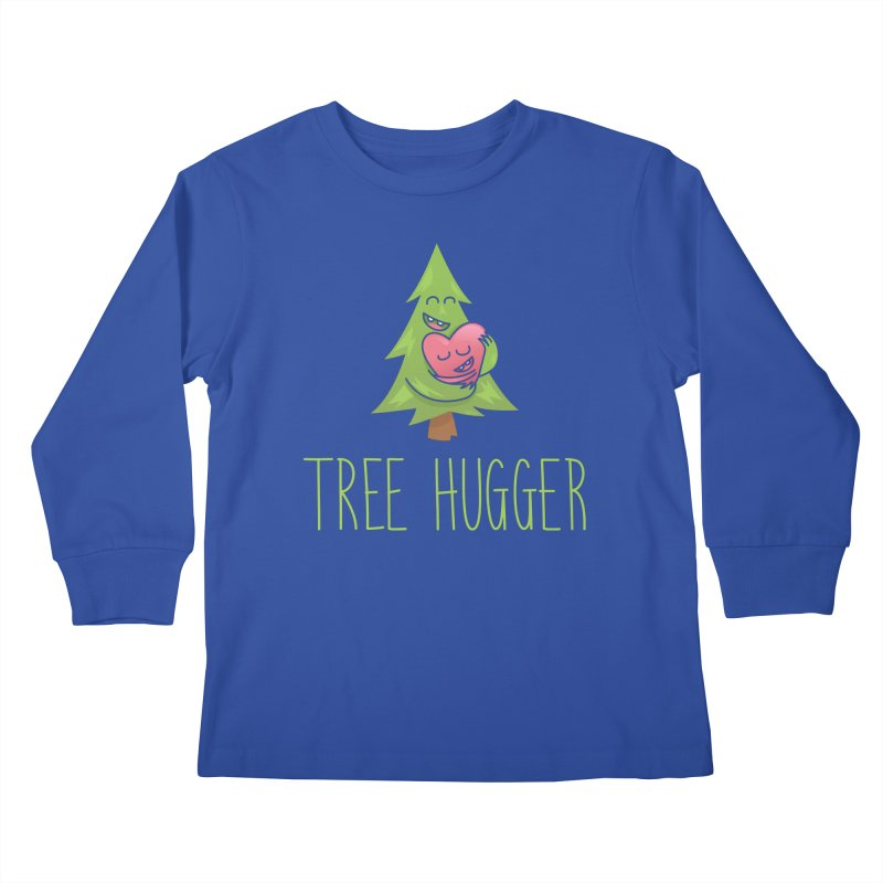 TREE HUGGER Kids Longsleeve T-Shirt by iCKY the Great's Artist Shop
