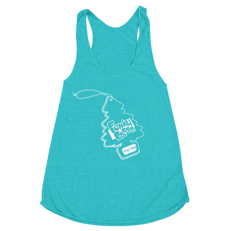 FUNKY FRESH (Trail Stank edition) Women's Racerback Triblend Tank by iCKY the Great's Artist Shop