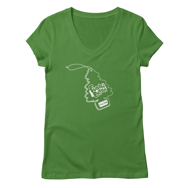 FUNKY FRESH (Trail Stank edition) Women's V-Neck by iCKY the Great's Artist Shop