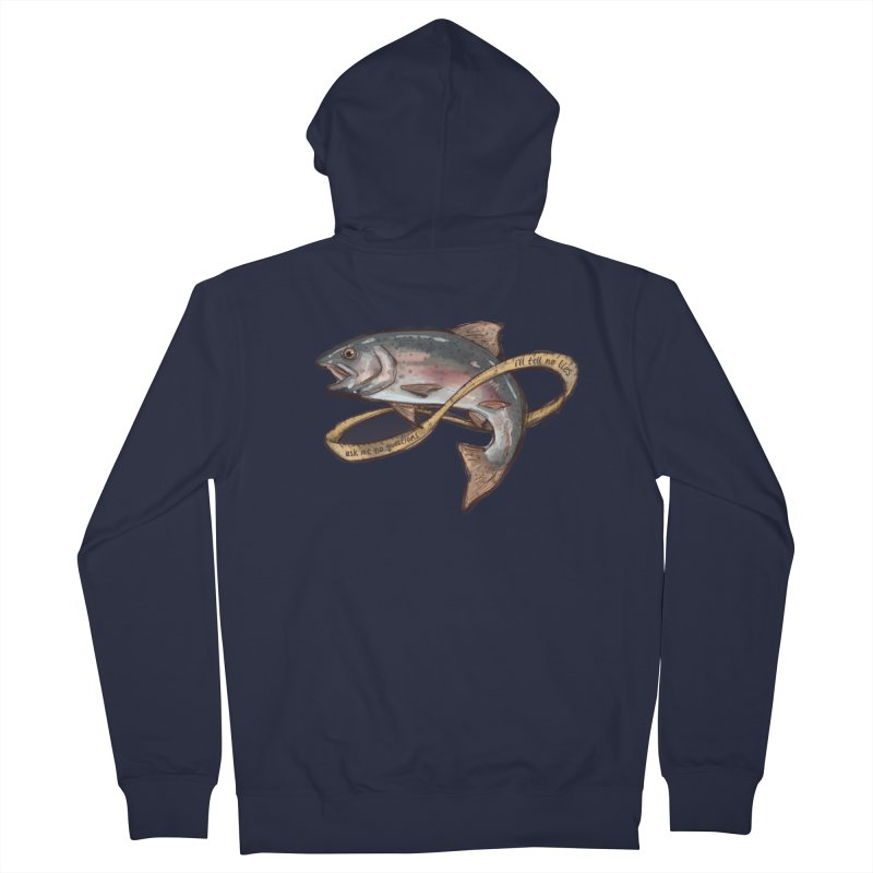 FISHING TRUTHS (no drop shadow) Men's French Terry Zip-Up Hoody by iCKY the Great's Artist Shop