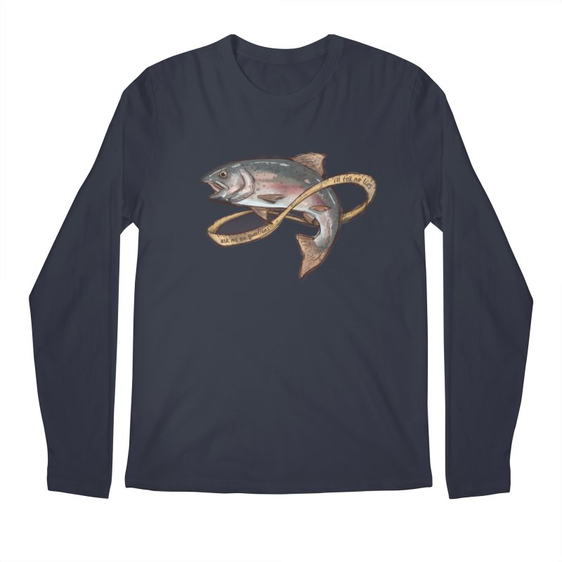 FISHING TRUTHS (no drop shadow) Men's Regular Longsleeve T-Shirt by iCKY the Great's Artist Shop