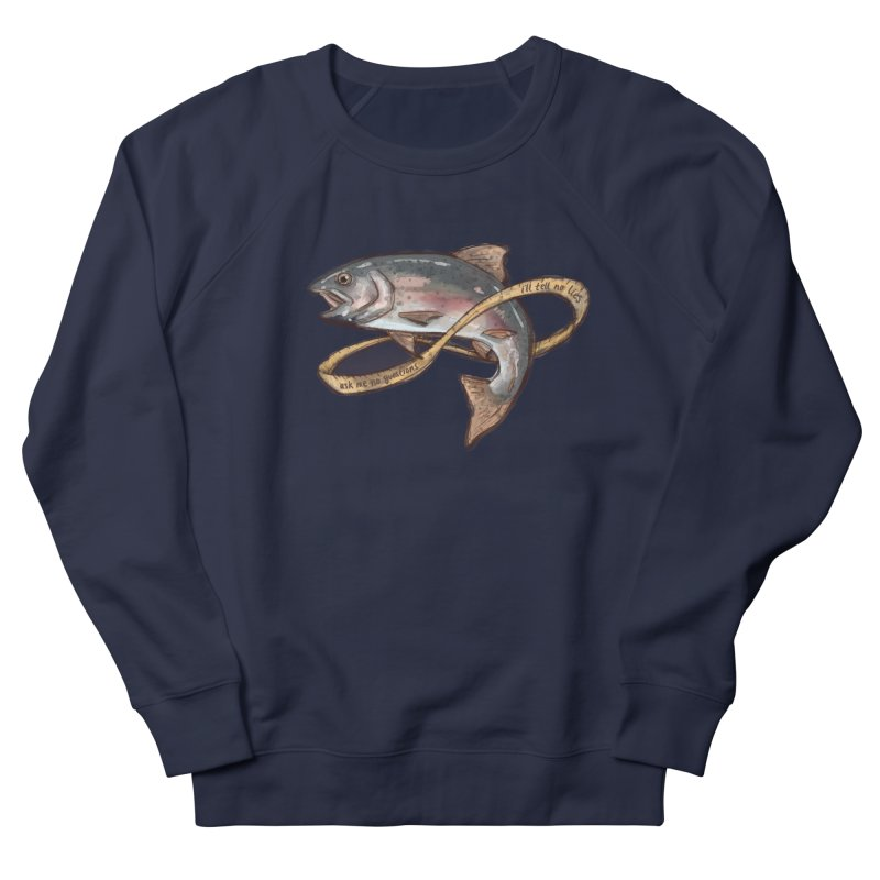 FISHING TRUTHS (no drop shadow) Men's French Terry Sweatshirt by iCKY the Great's Artist Shop