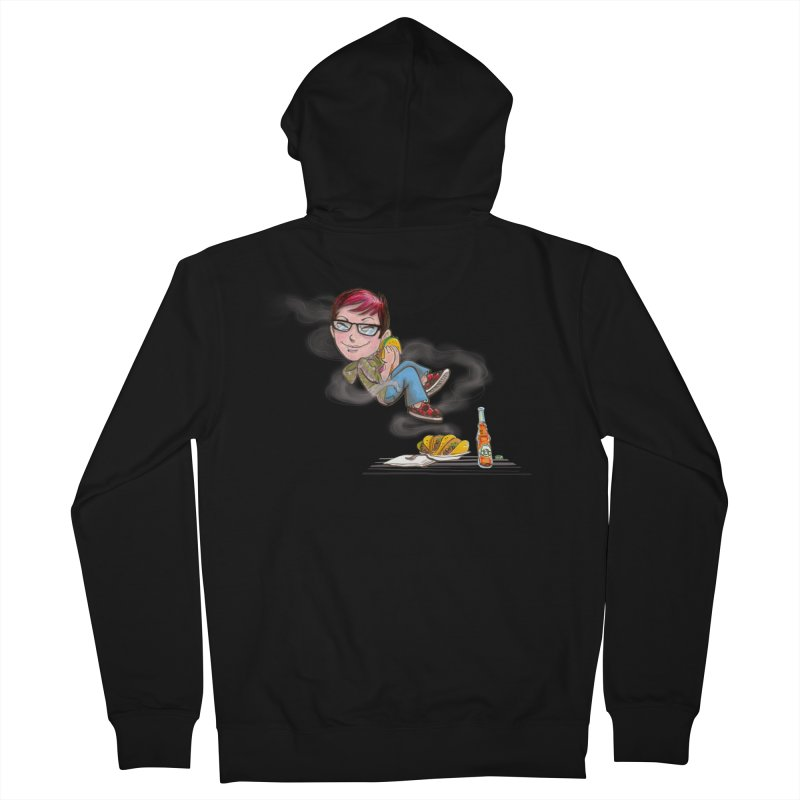 TACO HEAVEN Men's French Terry Zip-Up Hoody by iCKY the Great's Artist Shop