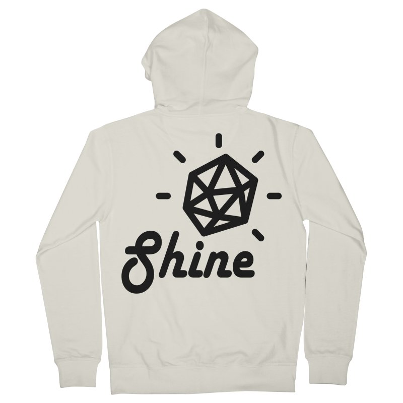 Shine Men's Zip-Up Hoody by iconnico