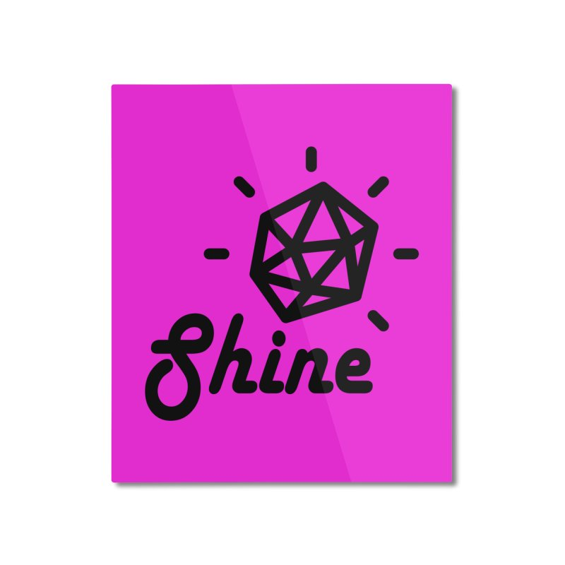 Shine Home Mounted Aluminum Print by iconnico