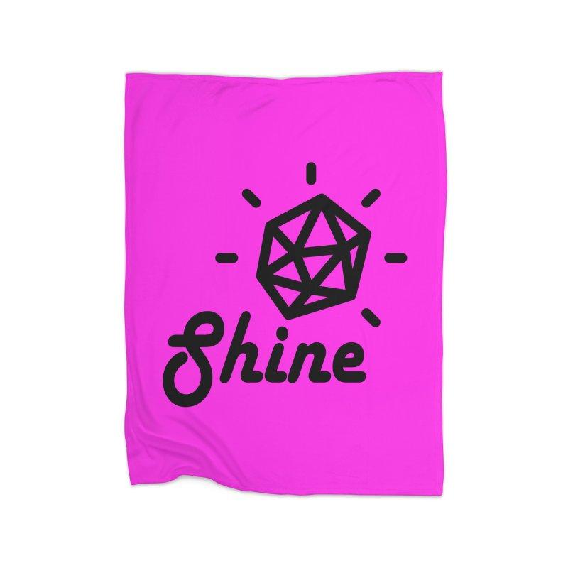 Shine Home Fleece Blanket Blanket by iconnico