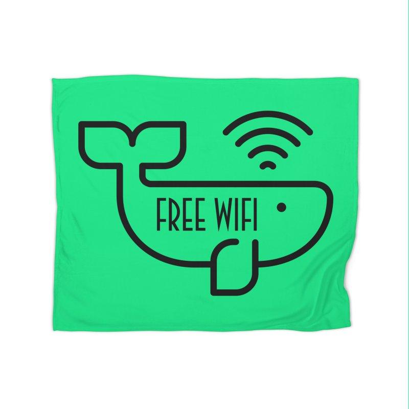 Free Wifi Home Fleece Blanket Blanket by iconnico