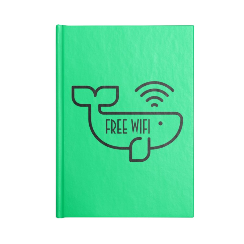 Free Wifi Accessories Blank Journal Notebook by iconnico