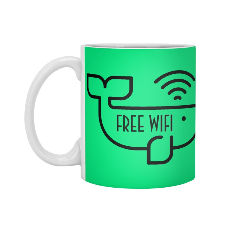 Free Wifi Accessories Standard Mug by iconnico