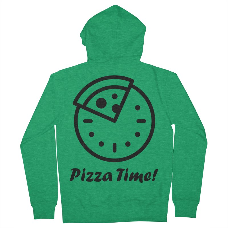 Pizza Time! Men's Zip-Up Hoody by iconnico