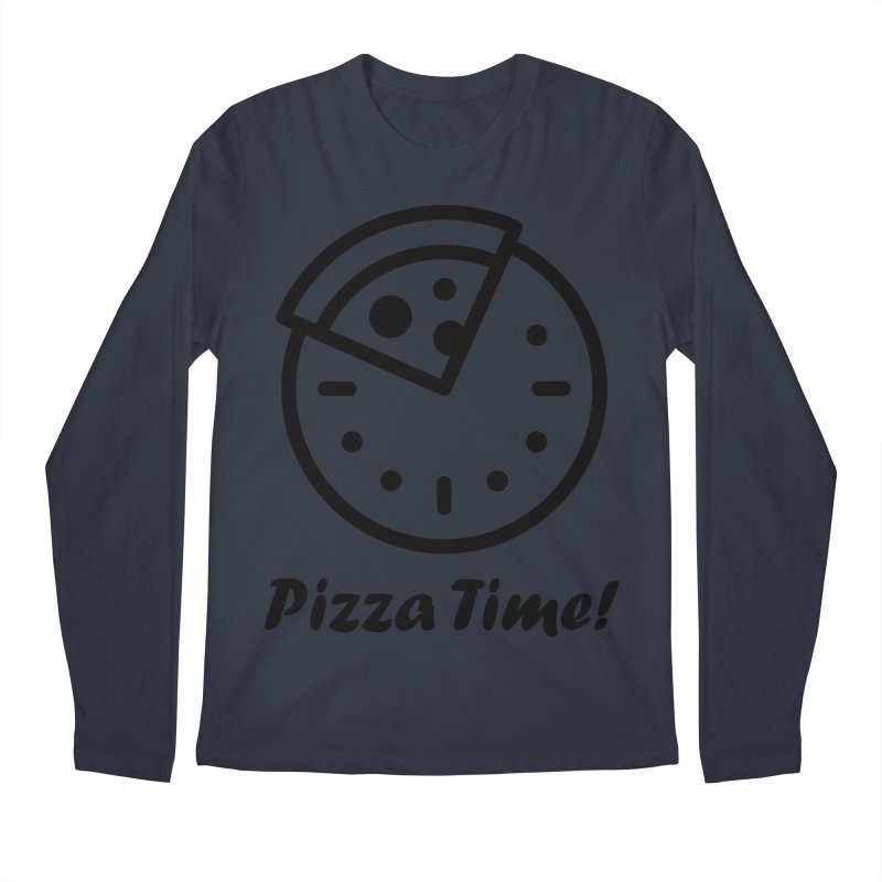 Pizza Time! Men's Longsleeve T-Shirt by iconnico