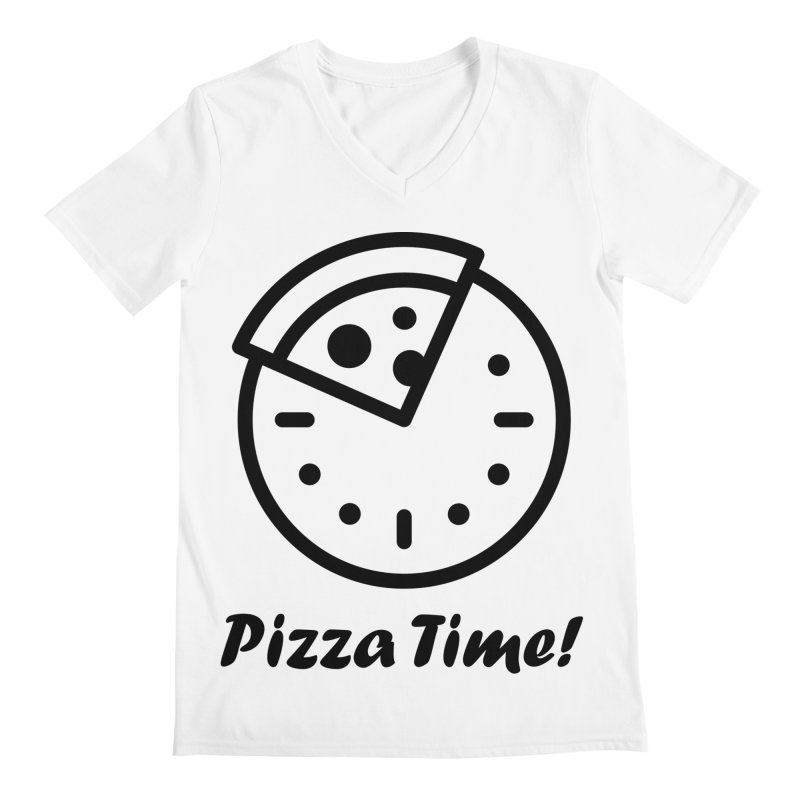 Pizza Time! Men's V-Neck by iconnico