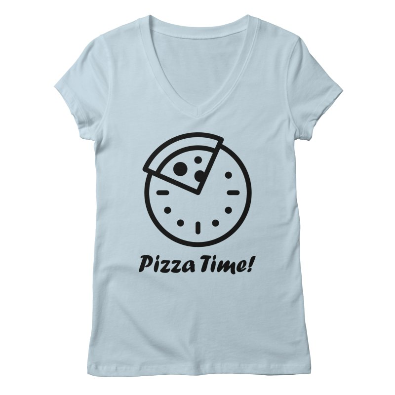 Pizza Time! Women's V-Neck by iconnico