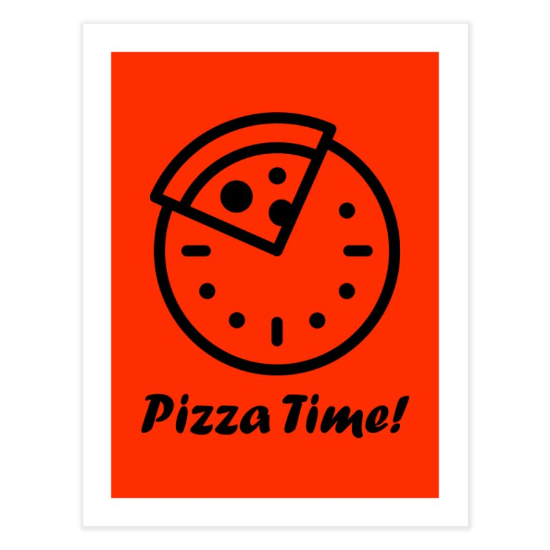 Pizza Time! Home Fine Art Print by iconnico
