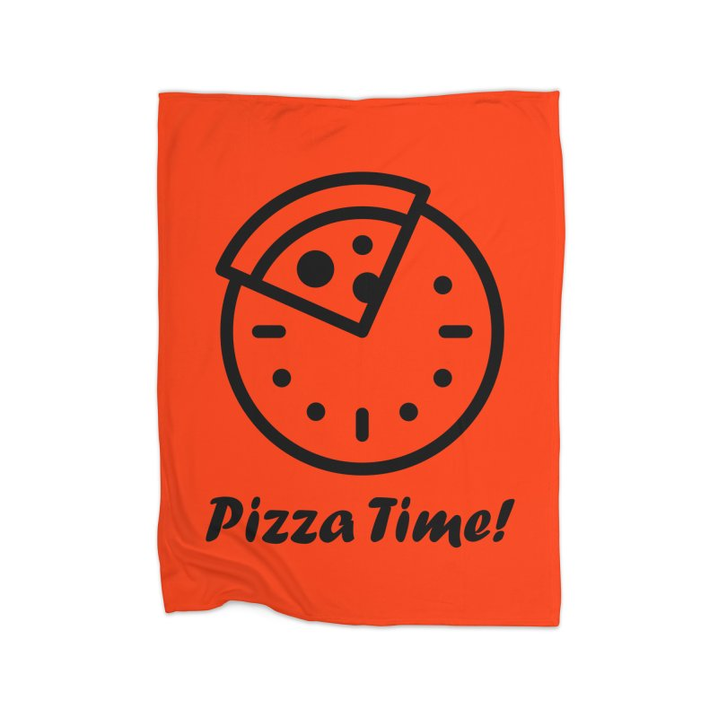 Pizza Time! Home Fleece Blanket Blanket by iconnico