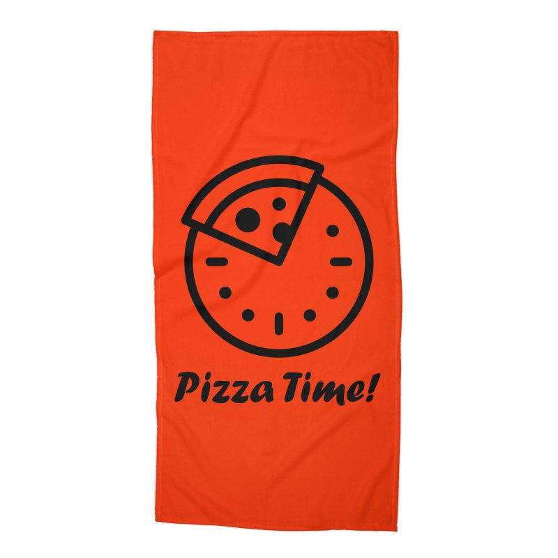 Pizza Time! Accessories Beach Towel by iconnico