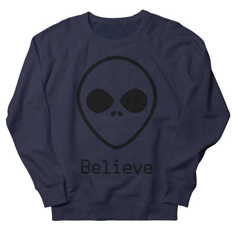 Believe Men's French Terry Sweatshirt by iconnico