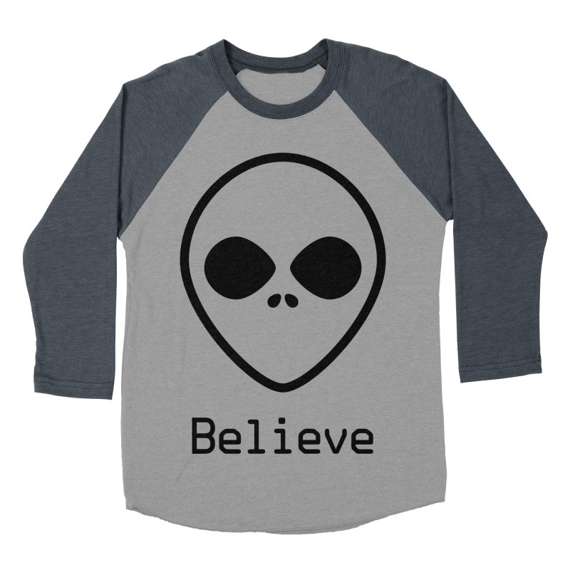 Believe Women's Baseball Triblend Longsleeve T-Shirt by iconnico