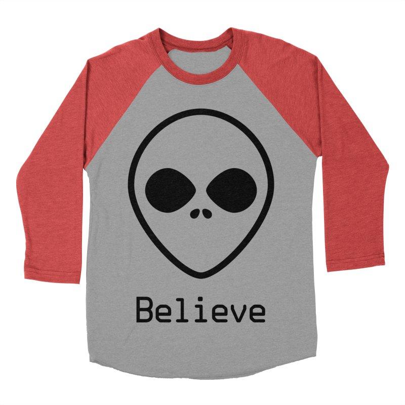 Believe Men's Baseball Triblend Longsleeve T-Shirt by iconnico
