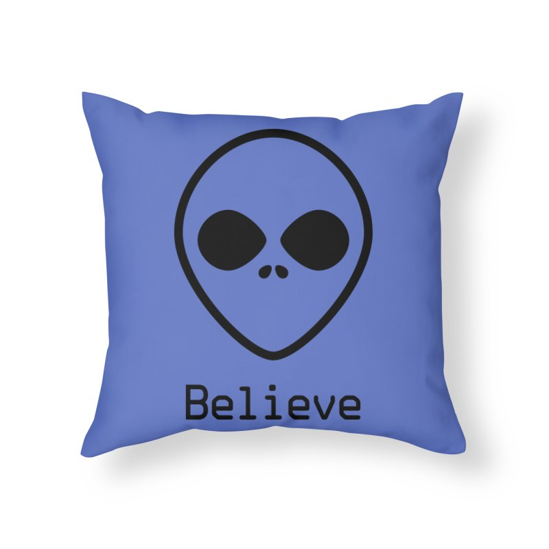 Believe Home Throw Pillow by iconnico