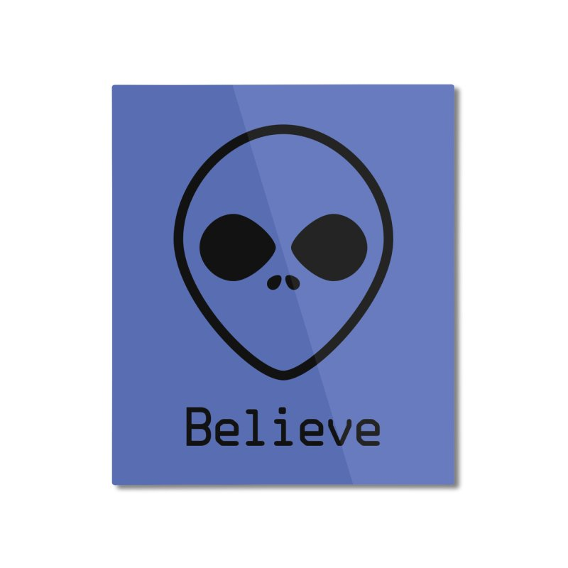 Believe Home Mounted Aluminum Print by iconnico