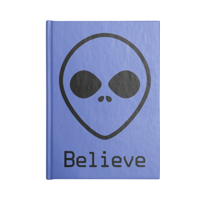 Believe Accessories Blank Journal Notebook by iconnico