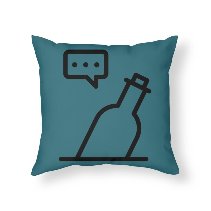 S.O.S Home Throw Pillow by iconnico