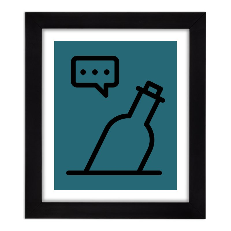 S.O.S Home Framed Fine Art Print by iconnico
