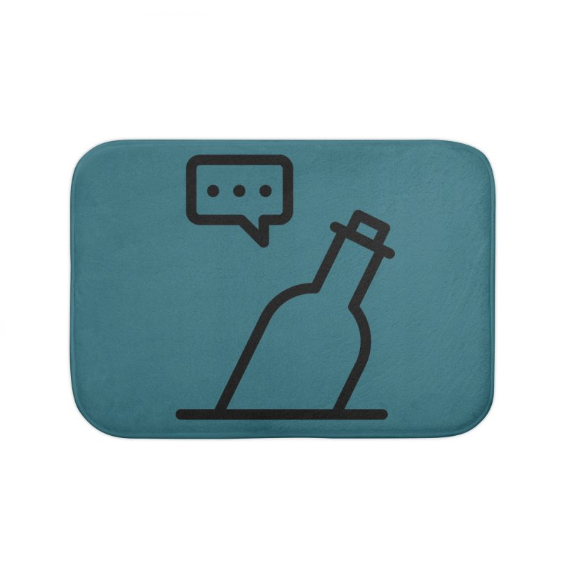 S.O.S Home Bath Mat by iconnico