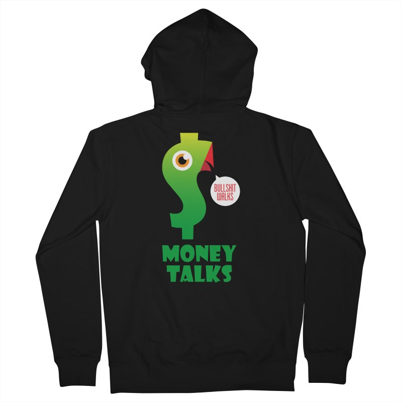 Money Talks Men's French Terry Zip-Up Hoody by iconnico